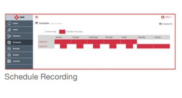 Vurella vCAM Schedule Recording